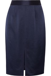 L'agence Hanna Satin Skirt Blue