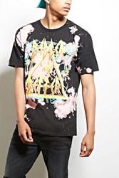 Forever 21 Rocksmith Deffer Graphic Tee Black Pink