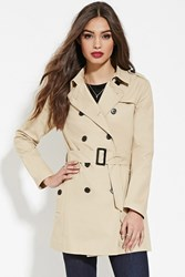 Forever 21 Classic Trench Coat Taupe