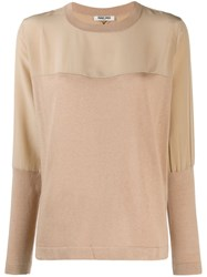 Max And Moi Panelled Jumper Brown