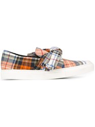 Cedric Charlier Knot Detail Slip On Sneakers Multicolour