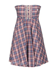 Duck Farm Short Dresses Azure