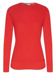 Barbour Daisy Crew Knit Jumper Red Sky