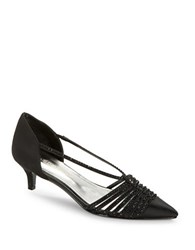 Caparros Camille Point Toe Kitten Heels Black