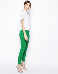 Asos High Waist Belted Trousers In Skinny Fit Jade