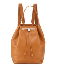 The Row Backpack 11 Leather Bag Camel