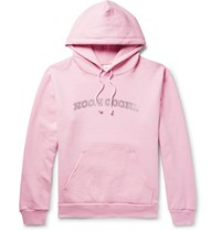 Noon Goons Logo Embellished Fleece Back Cotton Jersey Hoodie Pink