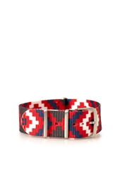 Forever 21 Southwestern Print Watch Strap Red White