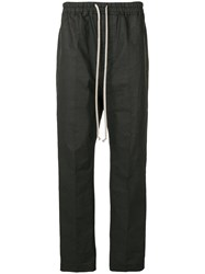 Rick Owens Track Style Tailored Trousers Black
