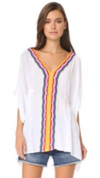 Nanette Lepore Peace And Love Caftan Cover Up White