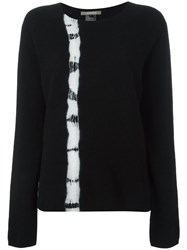 Suzusan Tie Dye Stripe Jumper Black