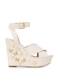 Michael Michael Kors Lacey Wedge Sandals Neutrals