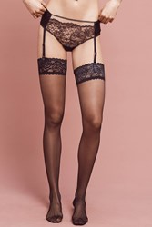 Anthropologie Else Garter Belt Hipsters Black