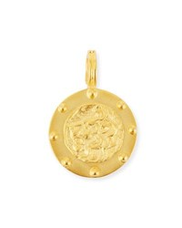 Dina Mackney Lion Medallion Pendant Gold