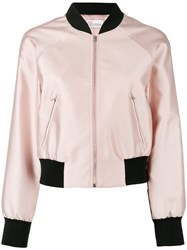 Red Valentino Classic Bomber Jacket Pink Purple