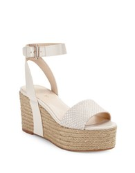 Nine West Edoile Leather Espadrille Sandals Off White