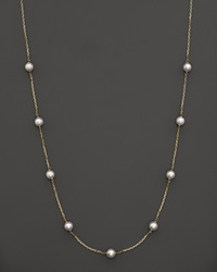 Bloomingdale's 14K Yellow Gold Akoya Cultured Pearl Necklace 18