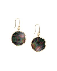Small Mystic Black Mother Of Pearl Earrings Lana Gold