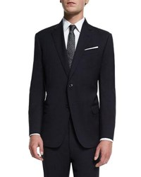 Armani Collezioni G Line New Basic Two Piece Wool Suit Navy