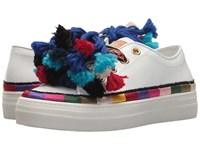 Etro Pom Pom Sneaker White Women's Shoes