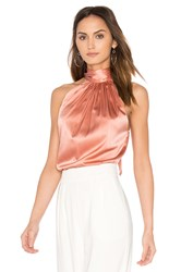 Ramy Brook Paige Tie Neck Tank Pink