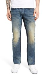 Prps Men's Big And Tall Demon Slim Straight Leg Jeans Groundwater