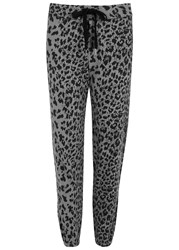 Current Elliott Varsity Leopard Print Cotton Jogging Trousers