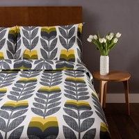 Orla Kiely Scribble Rosebud Duvet Cover Corn Yellow Single