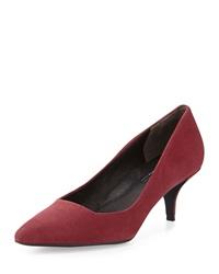 Kenneth Cole New York Pearl Suede Leather Low Heel Pump Wine