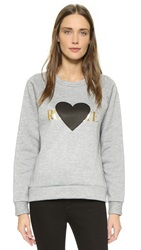 Rodarte Rohearte With Black Heart Sweatshirt Grey Gold