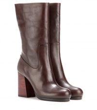 Calvin Klein Bennet Leather Boots Brown