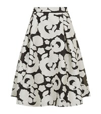 Reiss Drew Jacquard Midi Skirt Female White