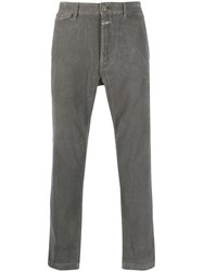 Closed Corduroy Straight Leg Trousers Grey
