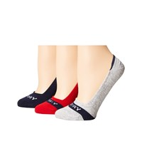 Sperry Signature Solid 3 Pack True Red Assorted Women's No Show Socks Shoes Multi