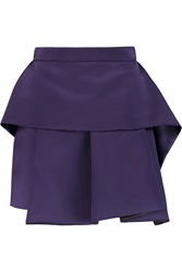 Mcq By Alexander Mcqueen Layered Satin Mini Skirt