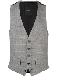 Loveless Fitted Plaid Waistcoat 60