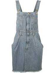 House Of Holland 'Hoh X Lee Collaboration' Dungaree Dress Blue