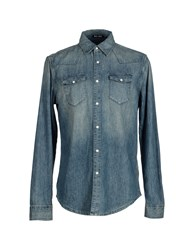 Blk Dnm Denim Denim Shirts Men Blue