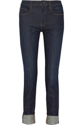 Proenza Schouler Ps J2 Mid Rise Skinny Jeans Blue