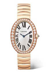 Cartier Baignoire 24.5Mm Small 18 Karat Pink Gold And Diamond Watch Rose Gold