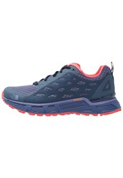 The North Face Endurus Tr Trail Running Shoes Coastal Fjord Blue Cayenne Red Purple