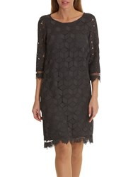 Betty And Co. Lace Shift Dress Night Silver