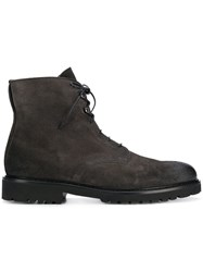 Doucal's Lace Up Ankle Boots Grey