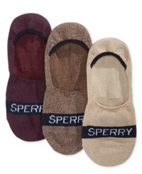 Sperry Men's 3 Pk. Marled Invisible Liner Socks Jave Pine Bark Assorted