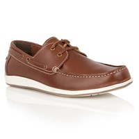 Lotus Exmouth Lace Up Casual Boat Shoes Brown