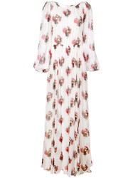 Adam By Adam Lippes Floral Maxi Dress White