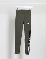 The North Face Tnl High Rise Legging In Khaki Green