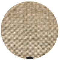 Chilewich Basketweave Round Placemat Latte