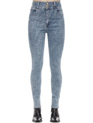 J Brand Elsa High Skinny Cotton Denim Jeans Light Blue