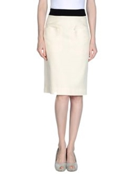 Rue Du Mail Knee Length Skirts Ivory